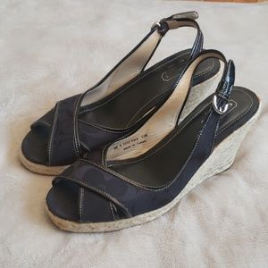 Coach Esparilla Signature Kara Wedges